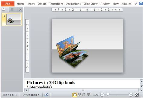 How To Create A 3d Picture Flip Book In Powerpoint Powerpoint Make Template