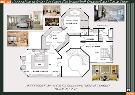 octagon cabin floor plans octagon home floor plans house plans 65805