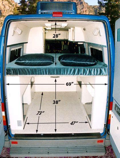 van with bed sportsmobile custom cer vans bunks platform beds