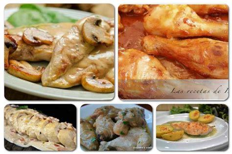 cocina pollo en salsa pollo en salsa 5 recetas diferentes