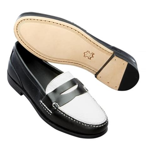 mens spectator loafers t b phelps the shag spectator loafers black white
