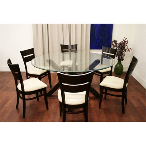 table parsons chairs round glass dining table set frivgamescom