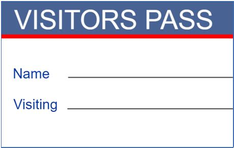 visitor pass template free best visitor badge templates for office visitors