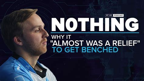 get benched n0thing it almost was a relief to get benched on cloud9