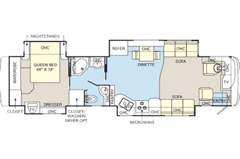 monaco rv floor plans 2007 monaco knight 40pdq photos details brochure floorplan