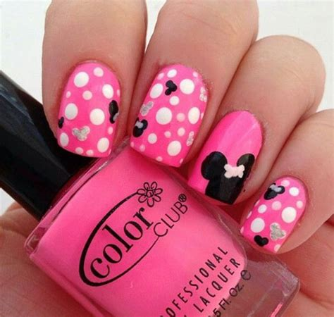 Pink Minnie Mouse Nail Designs