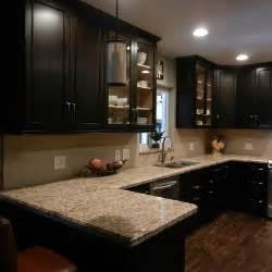 coffee color kitchen cabinets cabinet color options with tan granite espresso la
