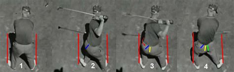 overhead view of golf swing km versus mike duffey newton golf institute