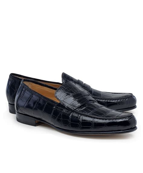 alligator loafers brothers alligator loafers in brown for