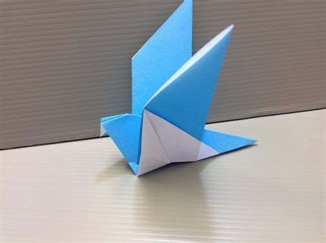 Paper Origami Bird - daily origami 139 flapping bird