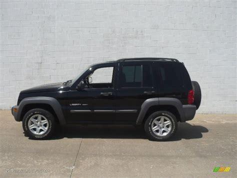 black jeep liberty 2003 2003 black clearcoat jeep liberty sport 4x4 65412076