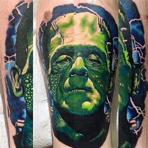electric blue tattoo top 80 best frankenstein tattoos for design