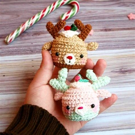 easy crochet christmas crafts deer cupcake pattern amigurumi today