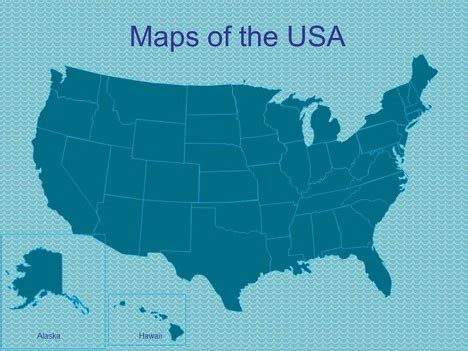 Powerpoint Maps Of The Usa Powerpoint Us Map Template Free