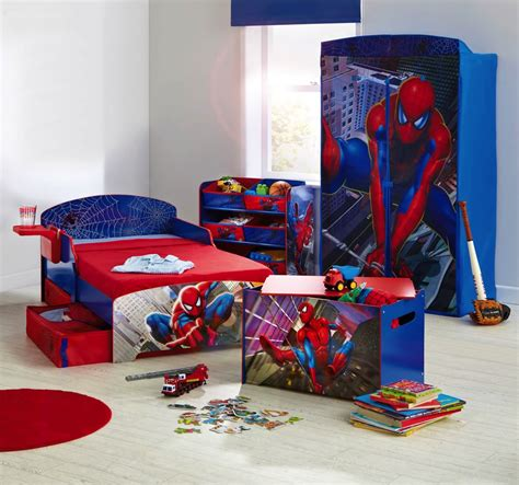 spiderman bedroom decorations boys room spiderman theme bed and cupboard interior