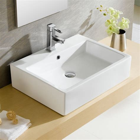 overflow in sink fixtures modern vitreous rectangular vessel bathroom