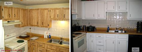 pictures of painted kitchen cabinets before and after streamlining a small kitchen in three easy steps