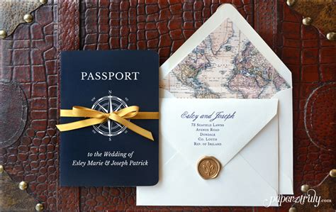 Come With Me Engagement Invites by Passport Wedding Invitations Flair Photo