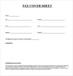 Template For Fax Cover Sheet by Basic Fax Cover Sheet 7 Documents In Pdf
