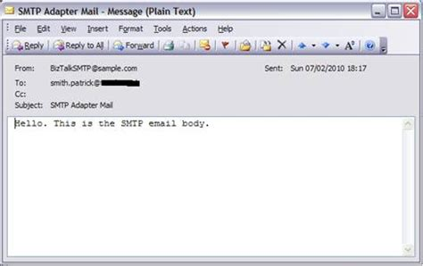 email format hello sending smtp email from within biztalk orchestration