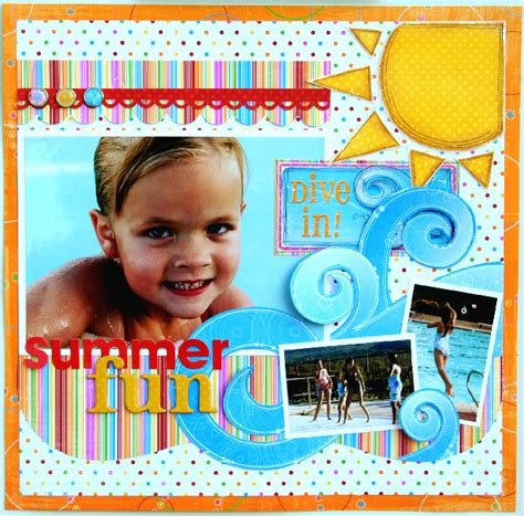 scrapbook layout gallery layout summer fun