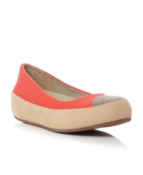 Fitflop Ballerina Canvas by Fitflop Due Canvas Flatform Canvas Ballerina Shoes