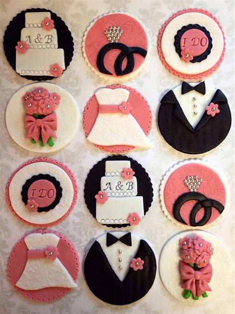cupcake toppers for bridal showers 12 bridal shower cupcake toppers wedding by fondantandfrosting