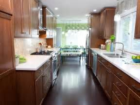 ideas for small galley kitchens galley kitchen designs hgtv