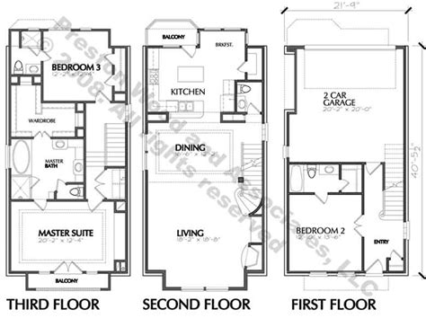 townhouse blueprints home ideas