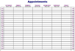 salon appointment book template charlotte clergy coalition