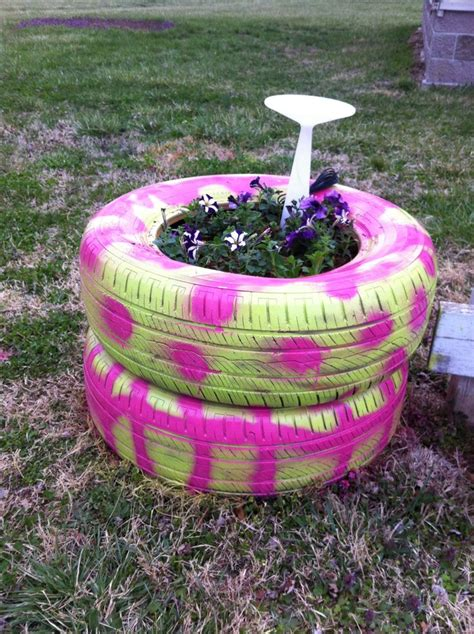 tire flower beds pin by marsha williams on gardening pinterest