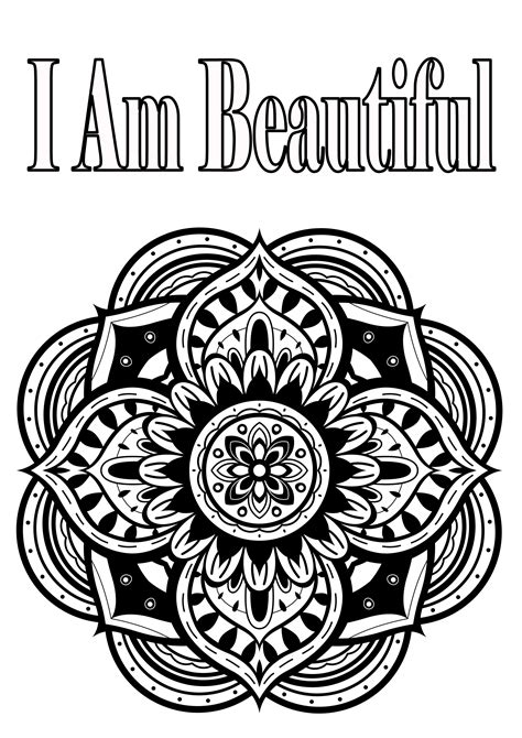 free coloring pages of self esteem