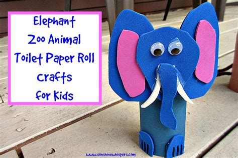 toilet paper roll crafts animals elephant zoo animal toilet paper roll crafts for