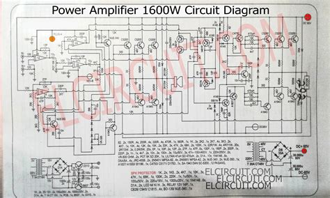 circuit schematic 1600w high power lifier circuit complete pcb layout