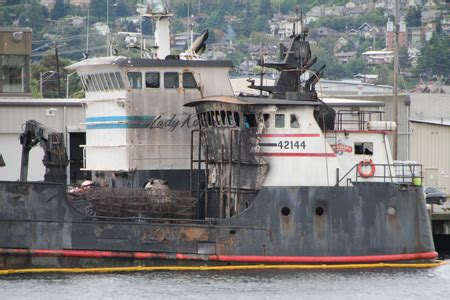 deadliest catch boats docked in seattle incident photo of the week fire aboard deadliest catch s