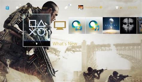 ps4 themes advanced warfare free advanced warfare theme now available for ps4 users