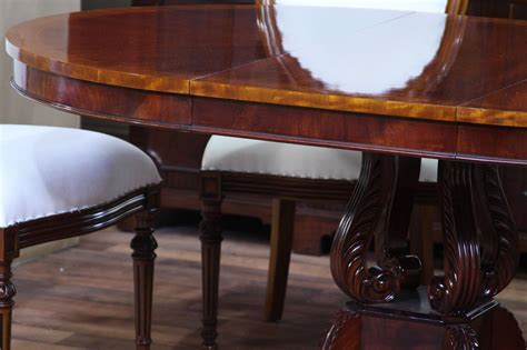 round mahogany dining table 44 quot reproduction antique round mahogany pedestal dining table 44 quot reproduction