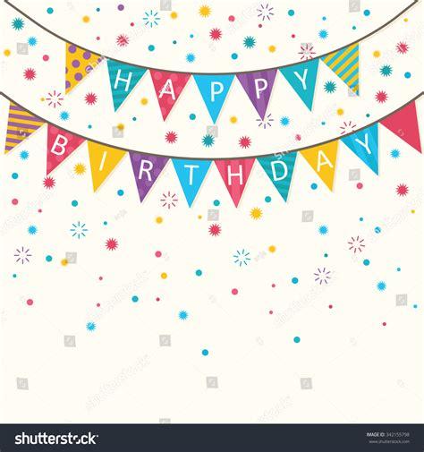 happy birthday banner design vector free download happy birthday vector birthday card party stock vector