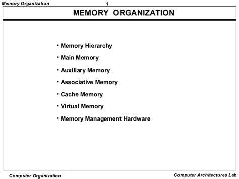 define memory organization in detail all in one tuts memory organization