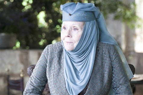 game of thrones actress rigg diana rigg got s queen of thorns speaks
