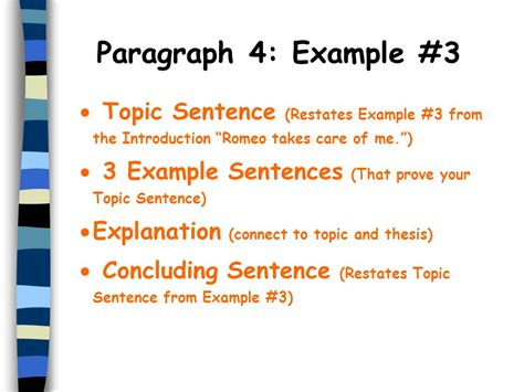 Essay Topic Sentence Exles by The Five Paragraph Essay Ppt