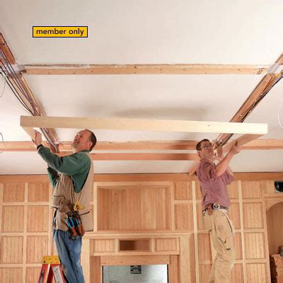 adding beams to ceiling 15 coffered ceiling ideas homebuilding
