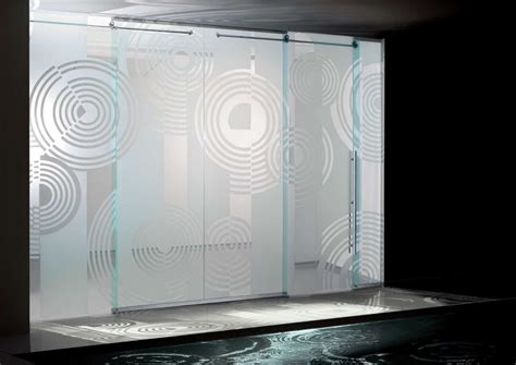 modern sliding glass doors amazing design of modern sliding glass doors spiral etched