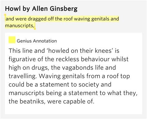 howling meaning and were dragged the roof waving and manuscripts howl meaning