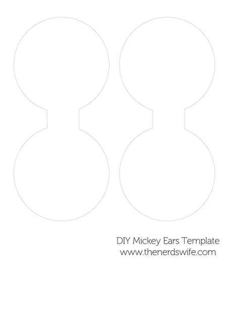 mickey ear template diy mickey mouse ears