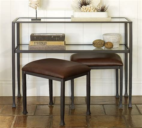 Entryway Table With Stools Underneath Console Table And Stools Home Sweet Home