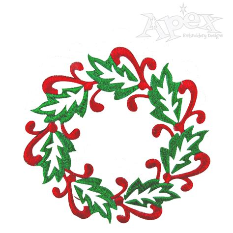 christmas designs wreath christmas 2 embroidery design