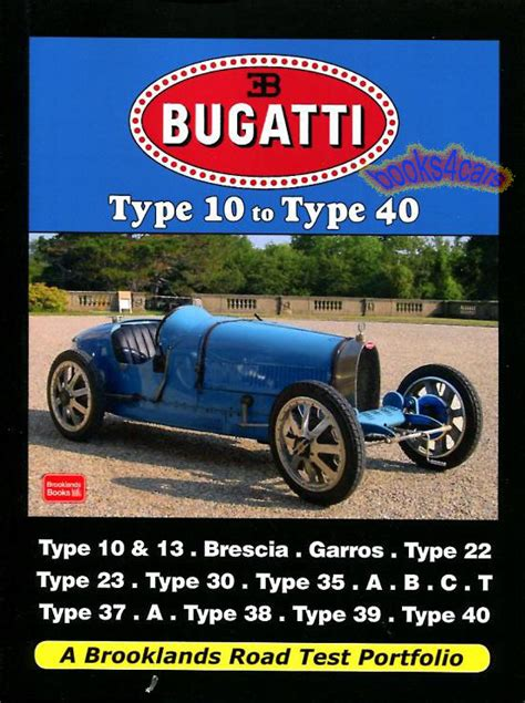 bugatti book brooklands portfolio brescia car type 35 37