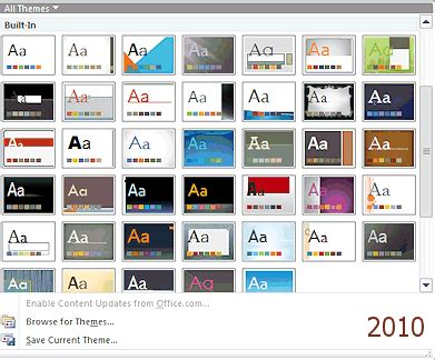 New Design Themes For Powerpoint 2010 | templates themes format jan s working with presentations