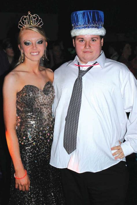 high school prom dance king and queen isfort adams are queen and king